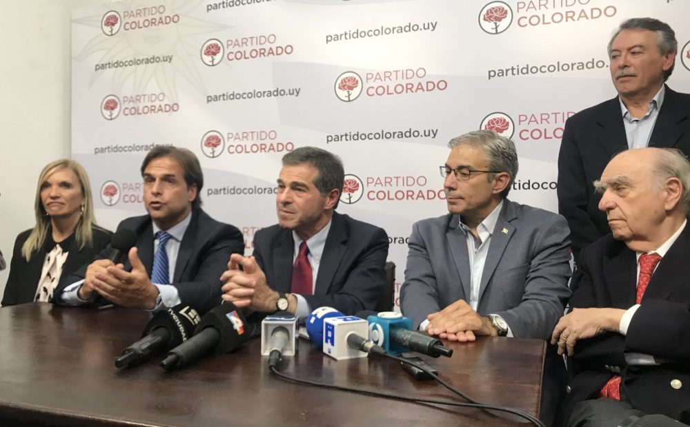 Colorados con Lacalle Pou